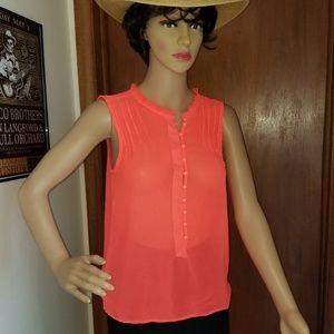 Patterson J Kincaid Neon Orange Top Size XS